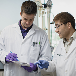 Research scientists in the Spark Therapeutics laboratory