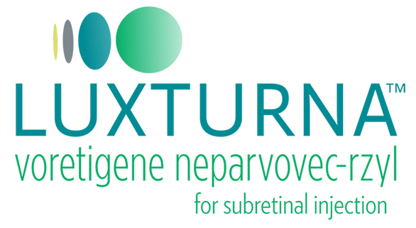 Logo for LUXTURNA™ (voretigene neparvovec-rzyl) for subretinal injection