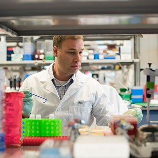 A research scientist in the Spark Therapeutics laboratory